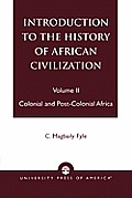 Introduction To The History Of African Volume 2
