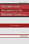 Narrative & Document in the Rabbinic Canon, Volume II