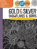 Creartivity: Gold & Silver Snowflakes & Stars