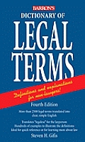 Barron's Dictionary of Legal Terms (4TH 08 Edition)