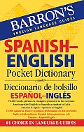 Barrons Spanish English Pocket Dictionary Diccionario de Bolsillo Espanol Ingles