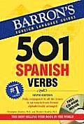 501 Spanish Verbs with CDROM (Barron's 501 Verbs) Cover