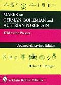 Marks on German, Bohemian & Austrian Porcelain