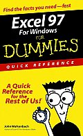 Excel 97 Windows Dummies Quick Reference (For Dummies: Quick Reference)