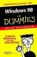 Windows 98 For Dummies Quick Ref