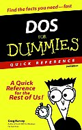Dos for Dummies Quick Reference 3RD Edition