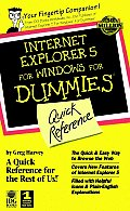 Internet Explorer 5 for Windows for dummies quick reference