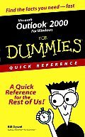 Microsoft Outlook 2000 for Windows for Dummies Quick Reference (For Dummies: Quick Reference) Cover