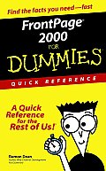 Front Page 2000 for Dummies Quick Reference
