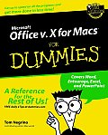 Microsoft Office V.10 for Macs for Dummies Cover