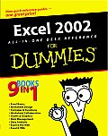 Excel 2002 All-In-One Desk Reference for Dummies(r) (For Dummies)