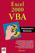 Excel 2000 VBA Programmer's Reference (Programmer's Reference)