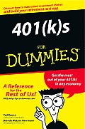 401(k)S for Dummies(r) (For Dummies) Cover