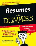 Resumes for Dummies 4TH Edition
