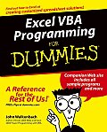 Excel VBA Programming for Dummies (For Dummies)