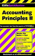 Accounting Principles II - Cliffsquickreview (00 Edition) Cover