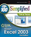 Microsoft Excel 2003 Top 100 Simplified Tip 2ND Edition