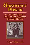 Local Causes of China's Intellectual, Legal, and Governmental Reforms