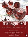 Sales Management Analysis & Decision Making 9th Edition