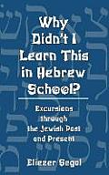 Why Didn't I Learn This in Hebrew School?: Excursions Trough the Jewish Past and Present