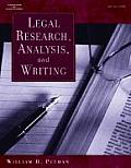 Legal Research, Analysis and Writing (04 - Old Edition)
