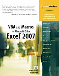 VBA and Macros for Microsoft® Office Excel® 2007