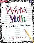 Write Math Writing In The Math Class