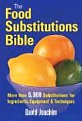 Food Substitutions Bible More Than 5000 Substitutions for Ingredients Equipment & Techniques