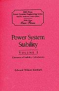 Power System Stability 3 Volumes Slipcased