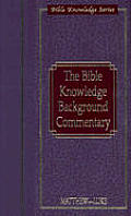 Bible Knowledge Background Commentary Ma