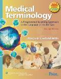 Medical Terminology : Programmed Learning Approach To the Language of Health Care - With CD (2ND 08 Edition)