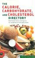 Calories Carbohydrates Cholesterol Directory