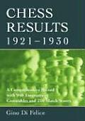 Chess Results, 1921-1930: A Comprehensive Record with 940 Tournament Crosstables and 210 Match Scores