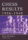 Chess Results, 1936-1940: A Comprehensive Record with 990 Tournament Crosstables and 125 Match Scores