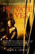 Mammoth Book Of Private Lives The Emot