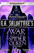 RA Salvatores War of the Spider Queen Frealms Volume I Unitary Edition Books 1 3