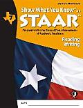 Swyk on Staar Reading/Writing Gr 7, Student Workbook: Preparation for the State of Texas Assessments of Academic Readiness