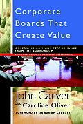 Corporate Boards That Create Value (Jossey-Bass Business & Management) Cover