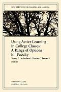 Using Active Learning in College Classes: A Range of Options for Faculty
