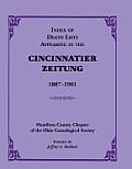 Index of Death Lists Appearing in the Cincinnatier Zeitung, 1887-1901