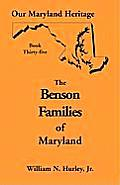 Our Maryland Heritage, Book 35: Benson Families