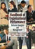 Handbook of Organizational Performance: Behavior Analysis and Management