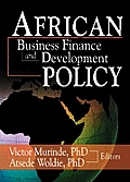 African Development Finance and Business Finance Policy