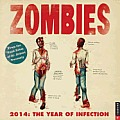 Zombies 2014 Wall Calendar: The Year of Infection