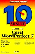 10 minute guide to Corel WordPerfect 7 for Windows 95