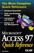 Access 97 Quick Reference