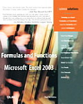 Formulas and Functions with Microsoft Excel 2003 Cover