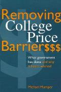 Removing College Price Barriers (96 Edition)