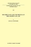 Eduard Gans and the Hegelian Philosophy of Law