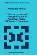 G-Convergence and Homogenization of Nonlinear Partial Differential Operators
